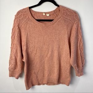 Moth Anthropologie coral sweater